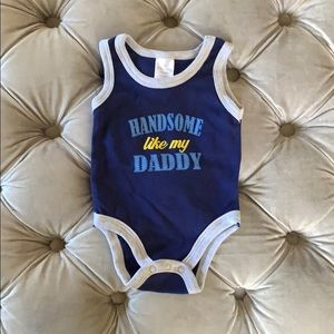 Handsome Like My Daddy tank top onesie (Newborn)